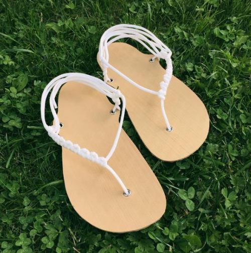 DIY sada barefoot sandale svatební