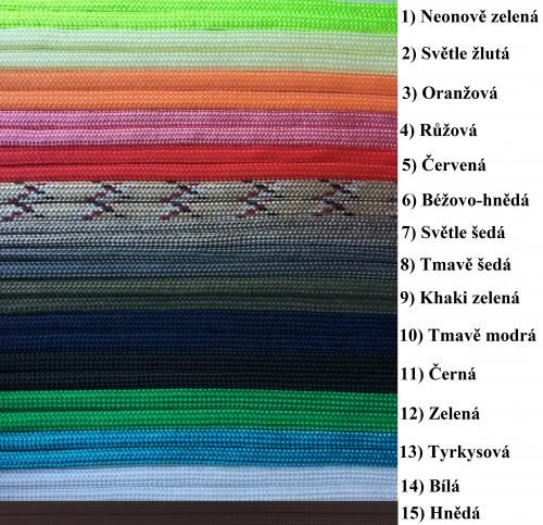 Barvy padákové šňůry