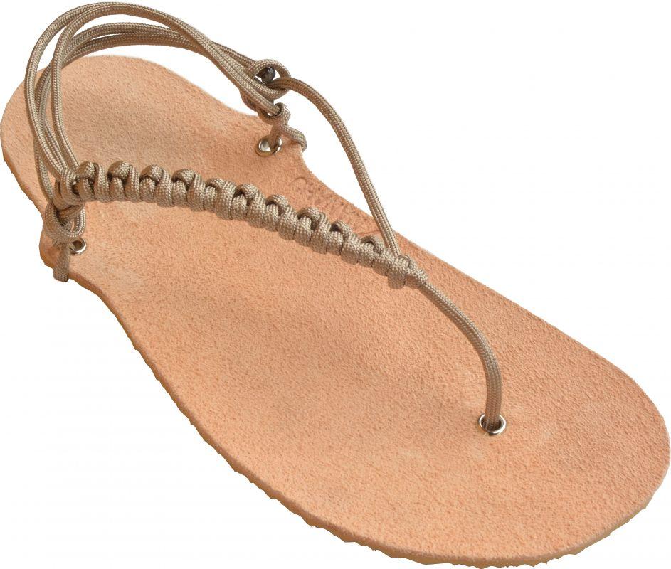 Sandálky béžové se štípenkou na míru