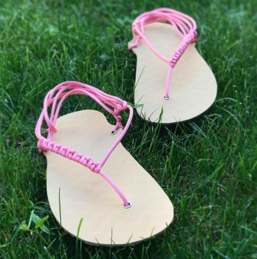 DIY sada barefoot sandale