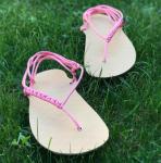 Sada na výrobu béžových barefoot sandálů