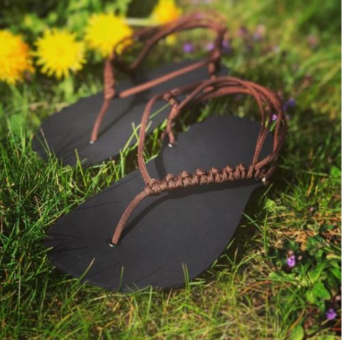 DIY sada barefoot sandale vlastnoruční výroba