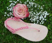 Kožené béžové sandále huarache Nanahu