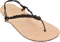 Kožené černé sandále huarache