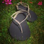 Základní černé sandále huarache Nanahu